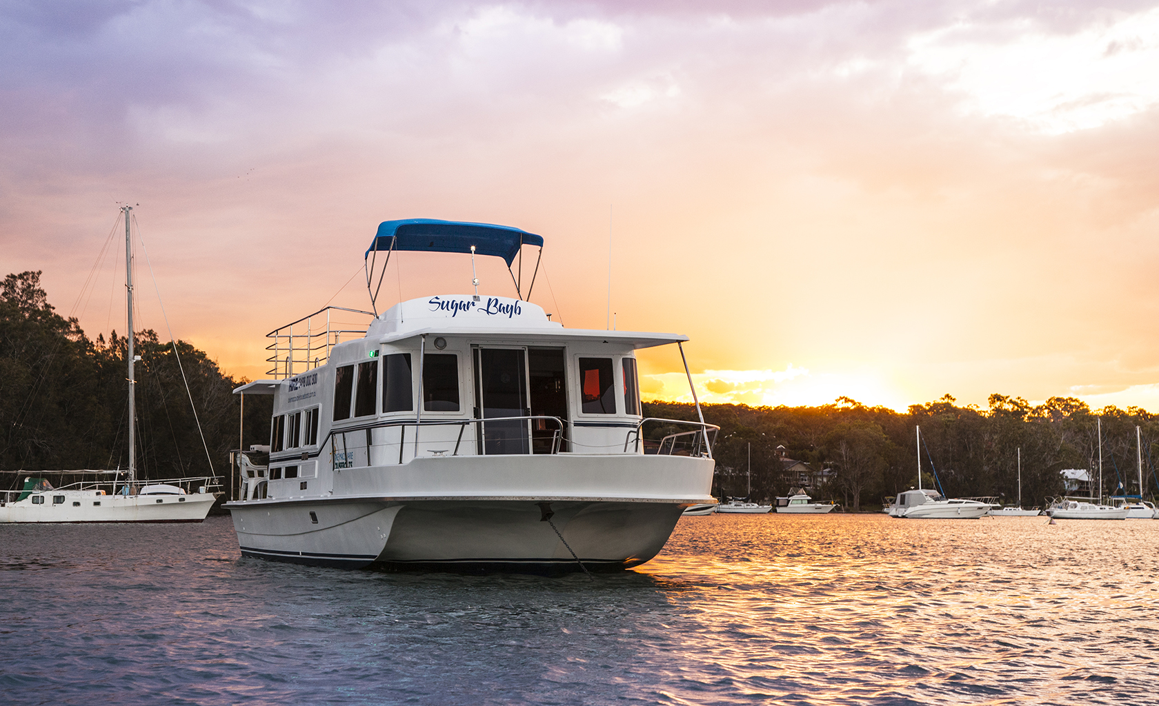 A houseboat at Lake Macquarie, NSW