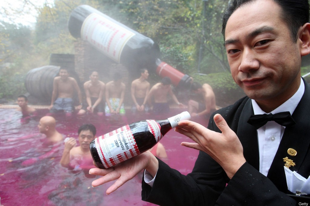 Bathe In Tea, Sake, Coffee and Wine At This Japanese Spa