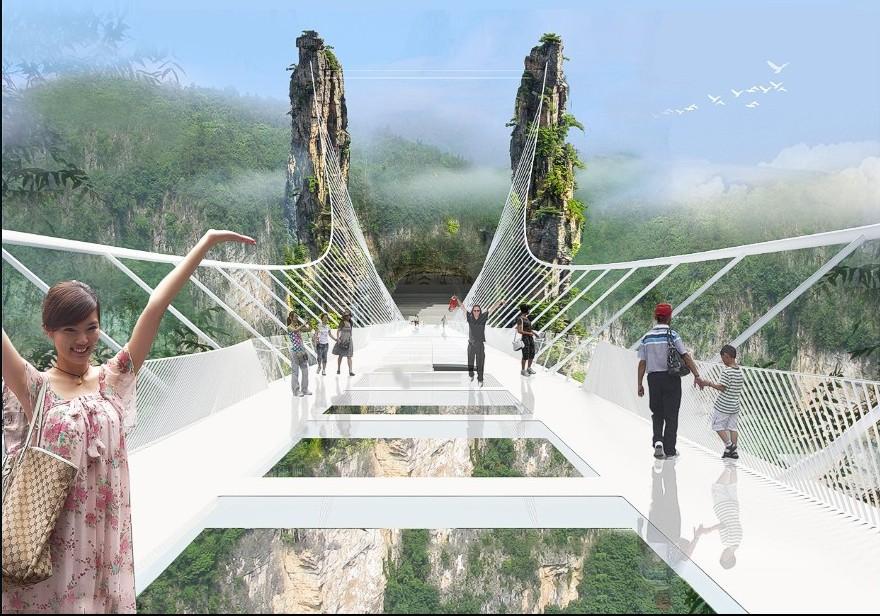 China Is Building The World's Highest Transparent Bridge