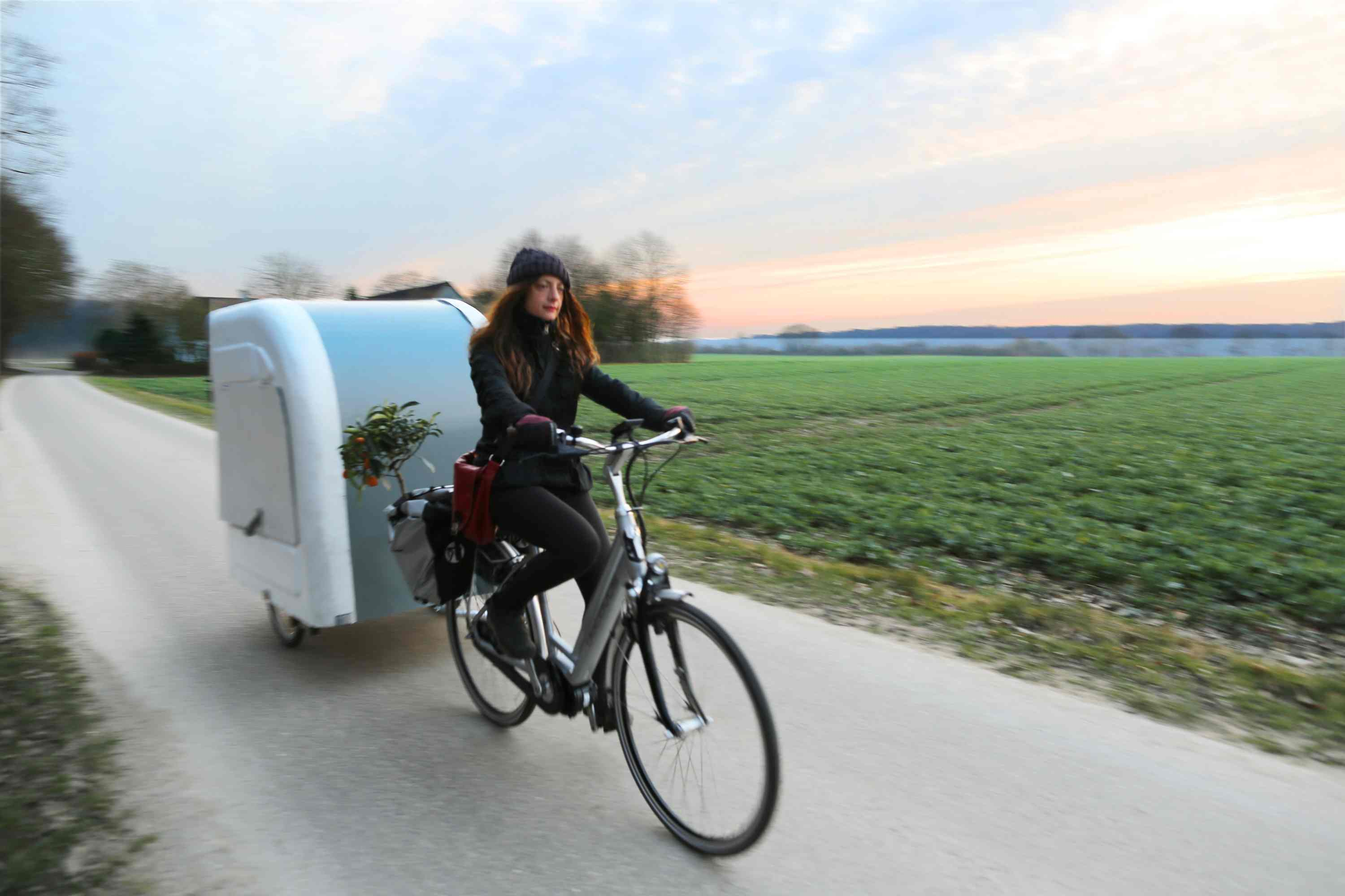 This Tiny House Attaches To Your Bike For Portable Living On The Road