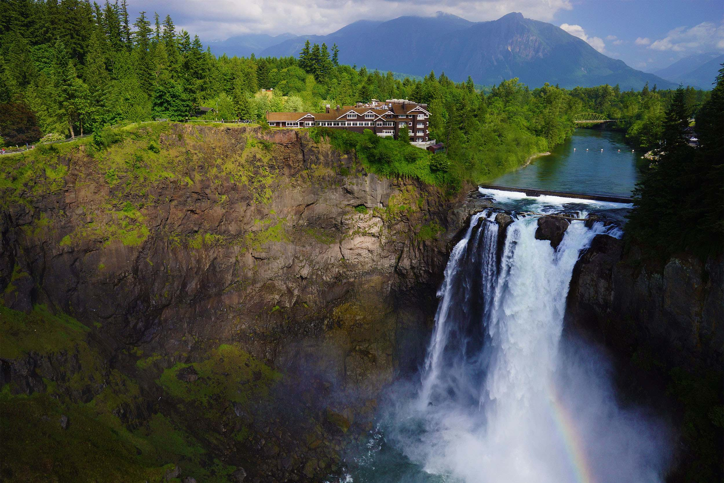 This Hotel Is Perched On Top Of An 82 Metre High Waterfall