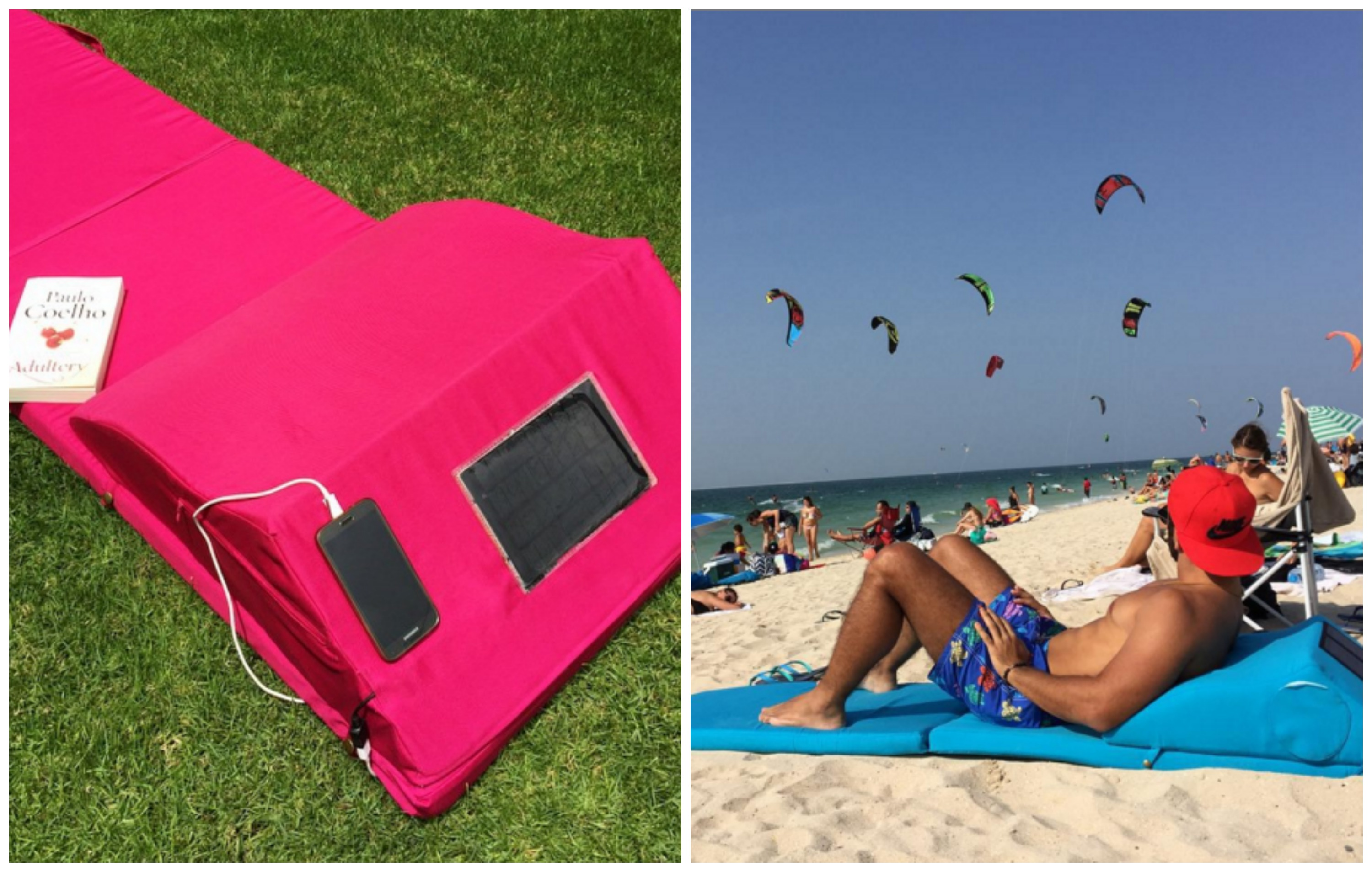 All Hail This New Beach Mat That Charges Your Phone Chills Your Beer