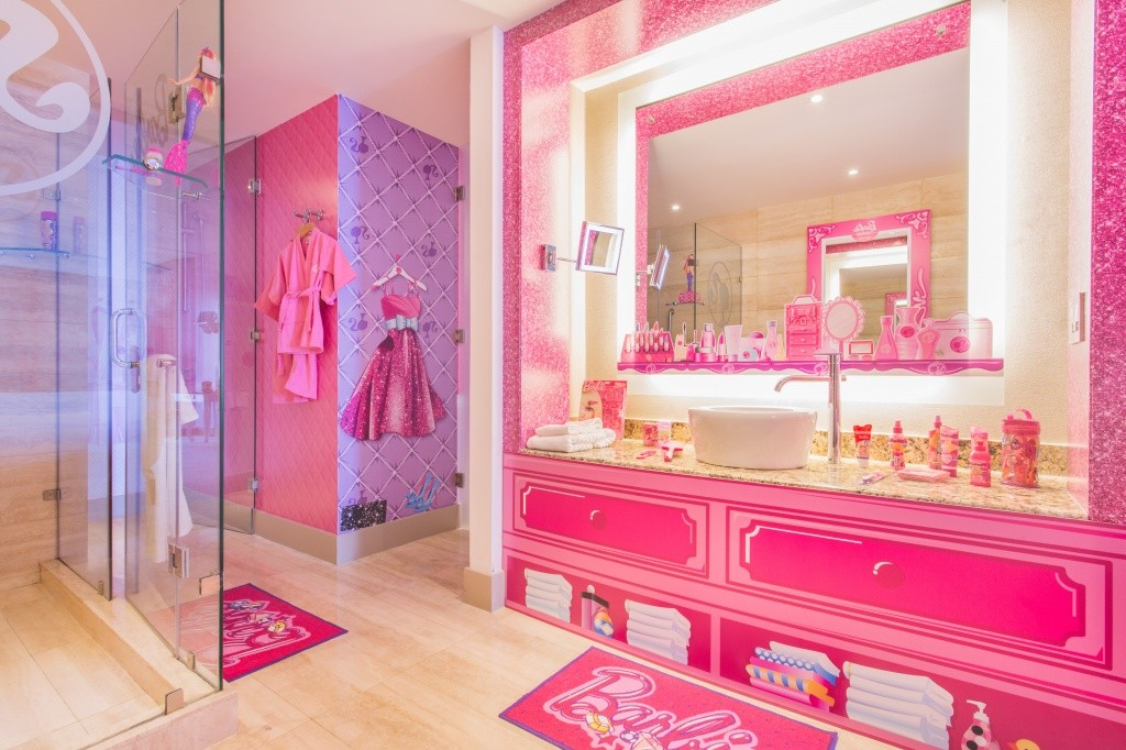 A Look Inside The Worlds Only Barbie Themed Hotel Room