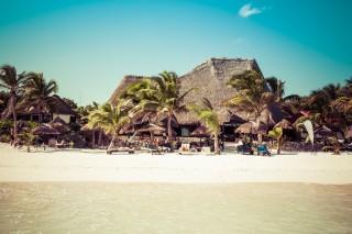 Caribbean beach Tulum - Mexico Mayan Riviera