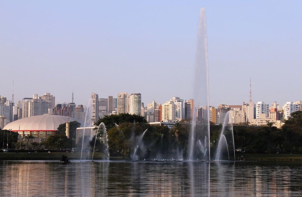 Fountain São Paulo Water Ibirapuera Park Lake