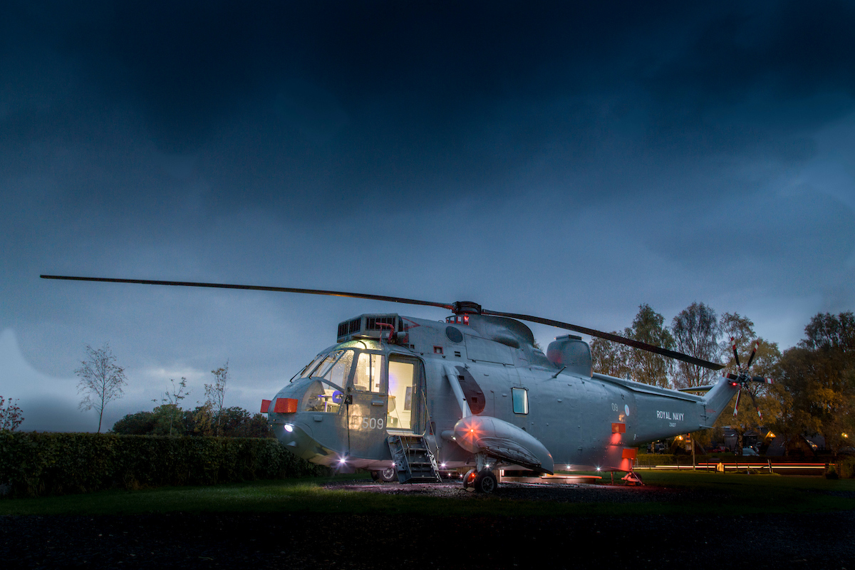 You Can Glamp In A Decommissioned Navy Helicopter Scotland