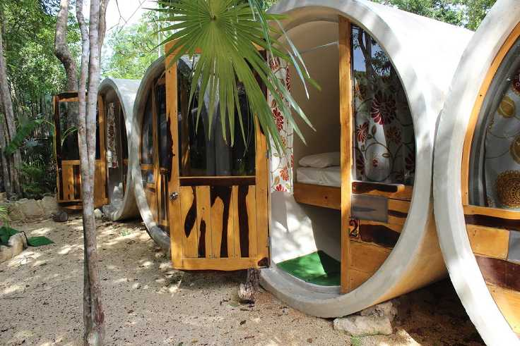 These Concrete S Were Repurposed To Create An Eco Friendly Hostel In Tulum