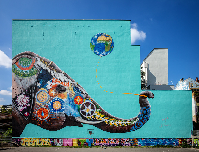 All the murals to see on a street art tour of berlin for Berlin wall mural
