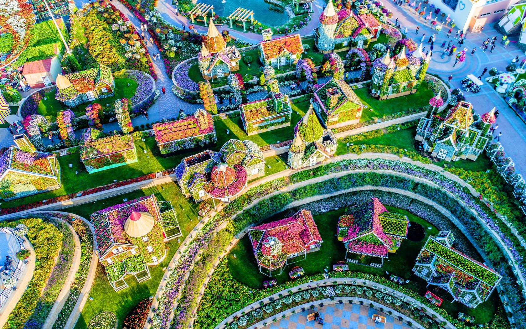 The World's Biggest Flower Display Is In The Middle Of The ... - photo#44