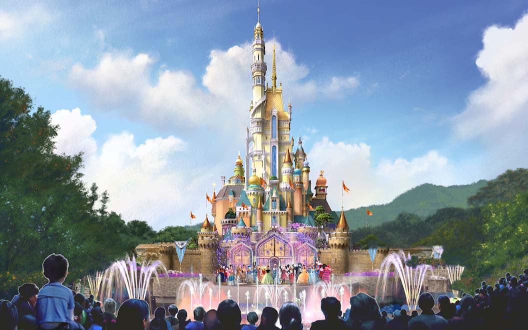 disneyland hong kong china s new cinderella castle will be one of
