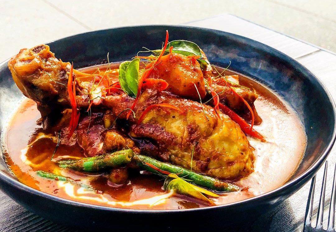 Penang chicken curry from Muum Maam restaurant Barangaroo