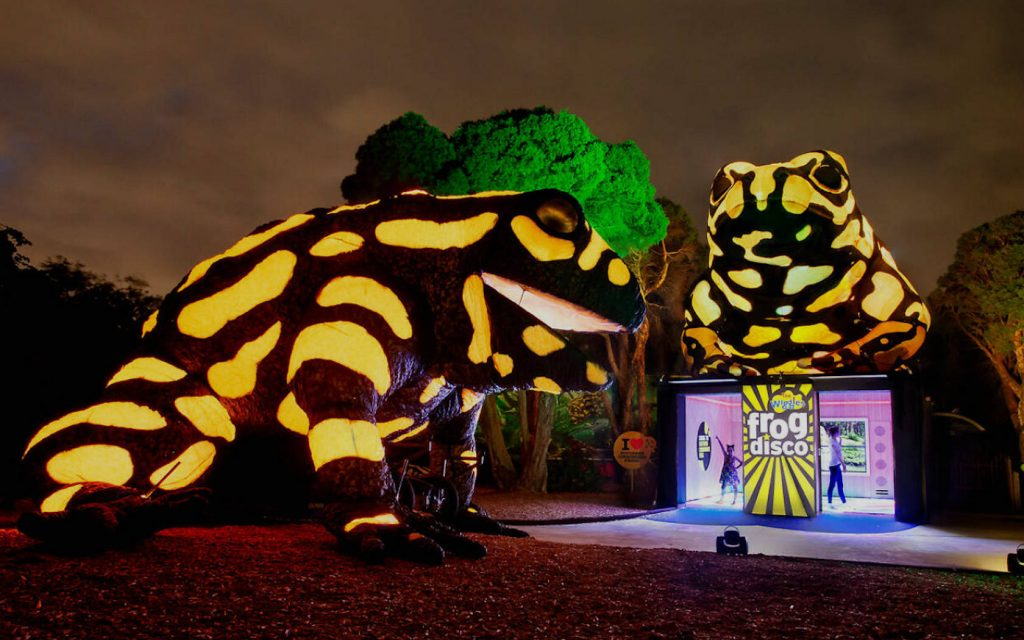 Melbourne Zoo Neon Playground what to do in Melbourne this Easter long weekend