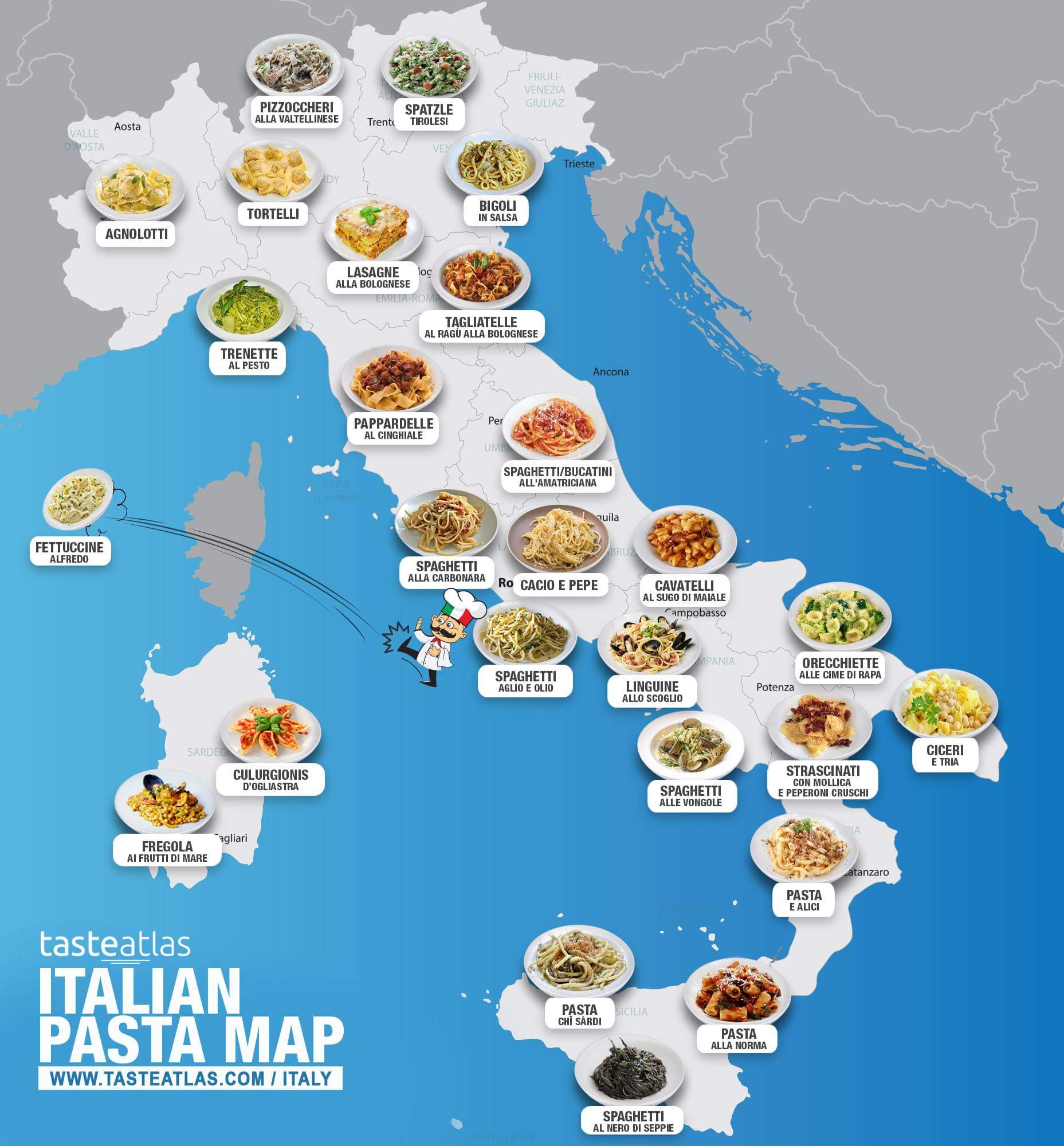 Pics Of Italy Map.Pasta Map Best Pasta Around Italy Mapped Out Brb Going To Italy