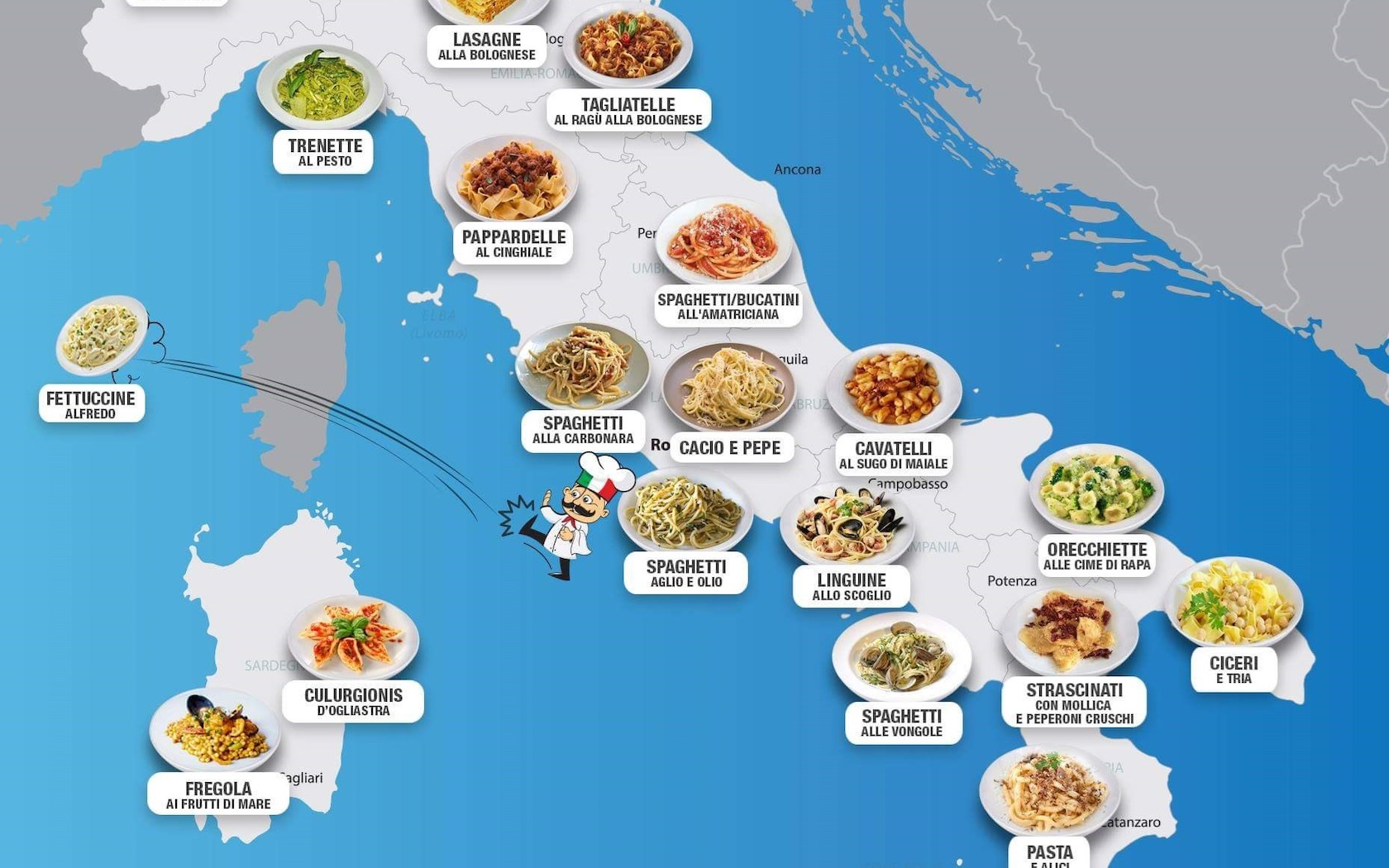 The Map Of Italy.Pasta Map Best Pasta Around Italy Mapped Out Brb Going To Italy
