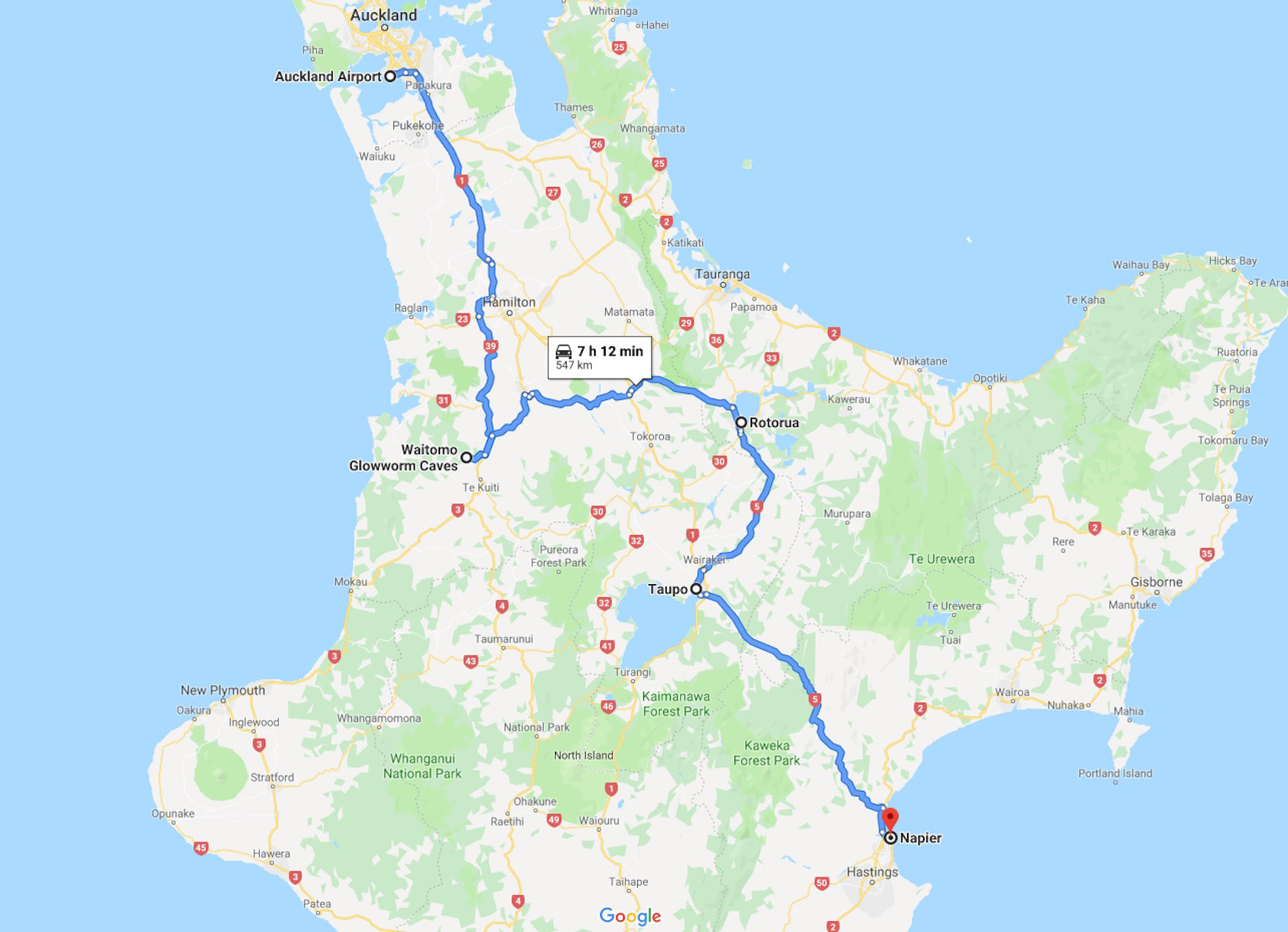 New Zealand North Island Road Map.New Zealand North Island Road Trip Is A Thrilling Good Time